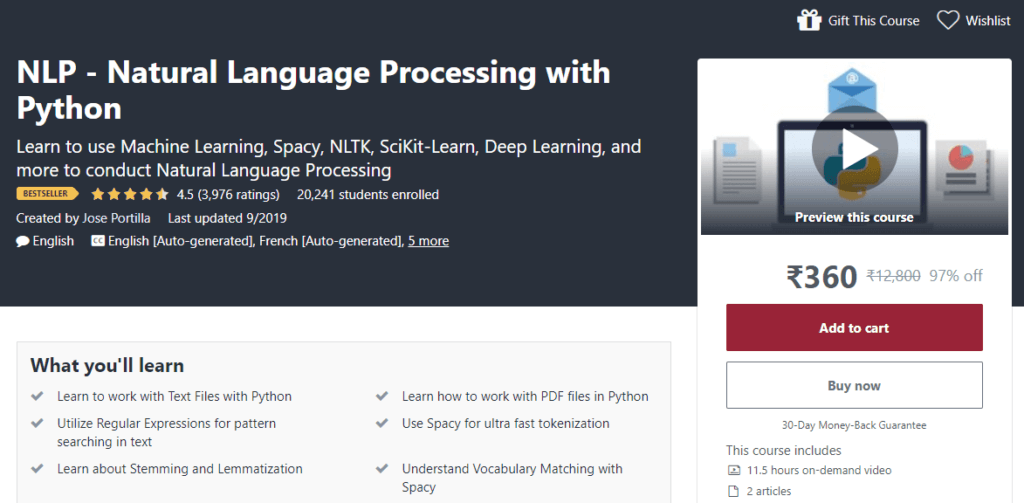 Best Way to Learn Python - Natural Language Processing