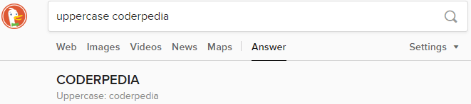 Changing the Text Case DuckDuckGo vs Google