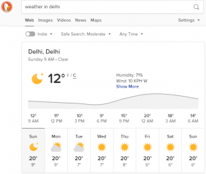 Checking Weather DuckDuckGo vs Google
