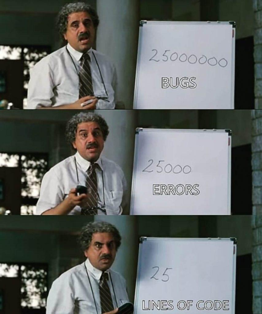 Coding Jokes - Bugs, Errors, Lines of Code