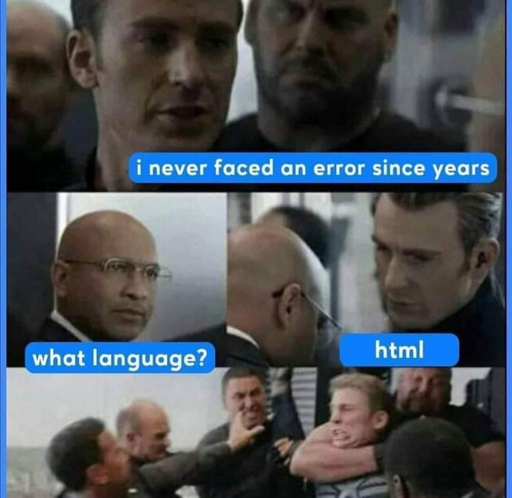 Coding Jokes HTML Meme