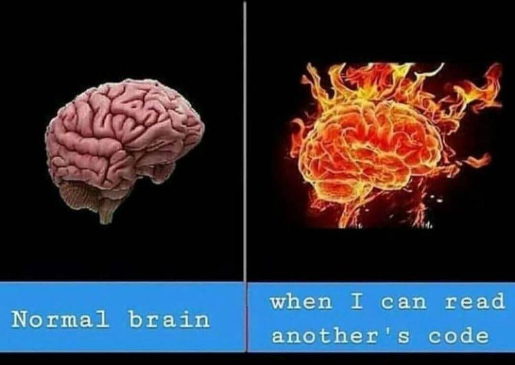Coding Memes - Normal Brain vs Programmer Brain