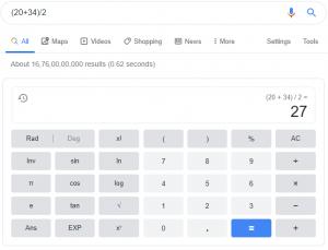 Google as a Calculator