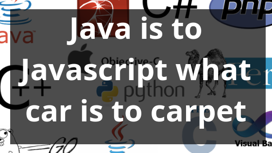 Java is to JavaScript what car is to carpet