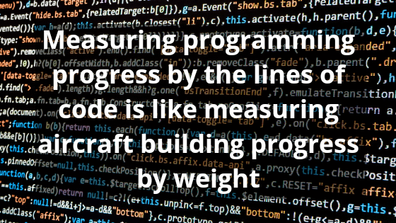 Measuring programming progress by the lines of code