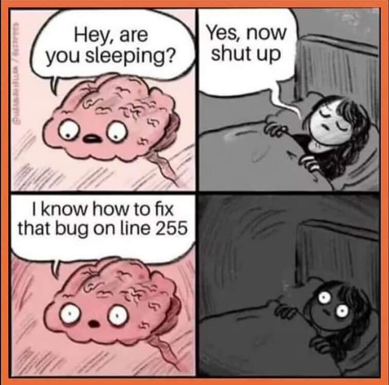 Programming Memes - Programmer while sleeping