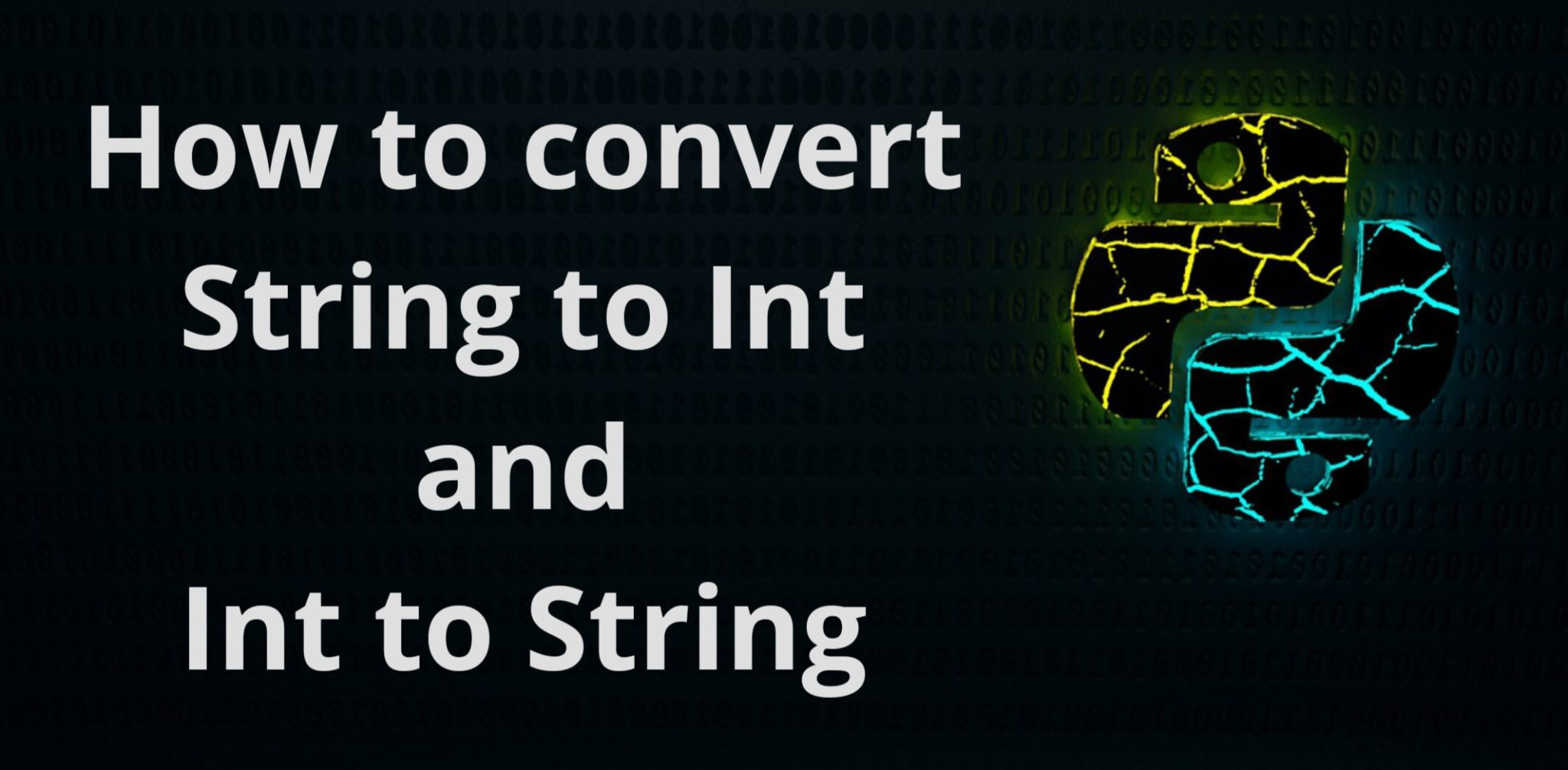 Python String to Int and Int to String