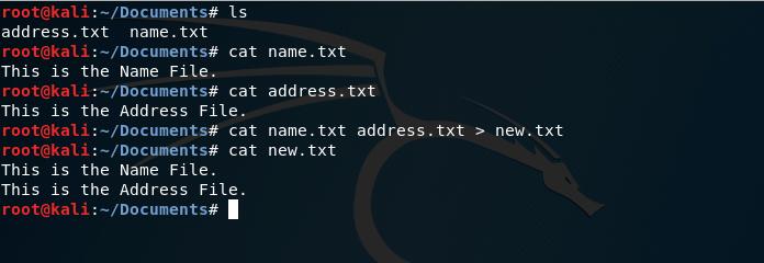 cat merge command