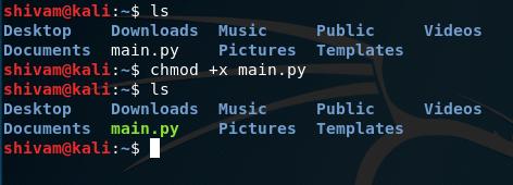 chmod command