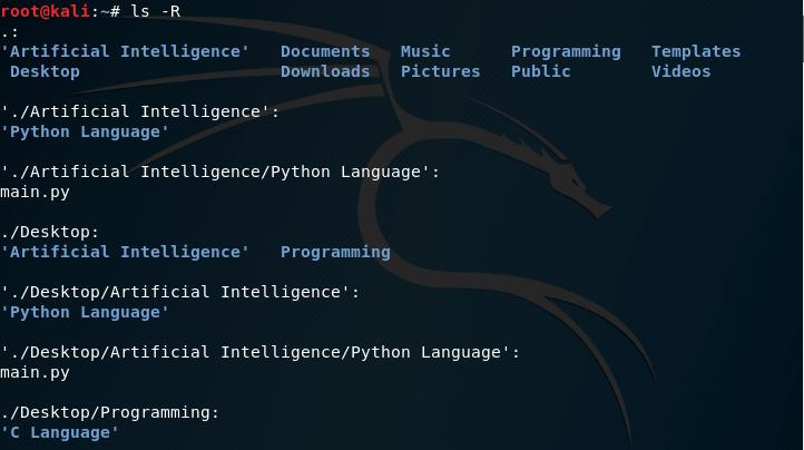 ls -R Linux Command
