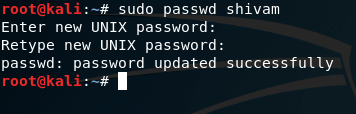 sudo passwd command