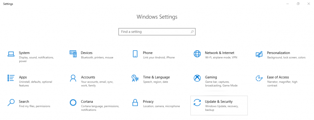 Select Update and Security - How to Upgrade Windows 10 to Windows 11 for Free