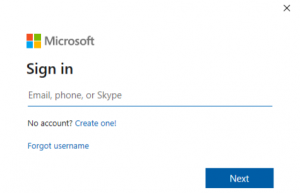 Sign In to Microsoft Account